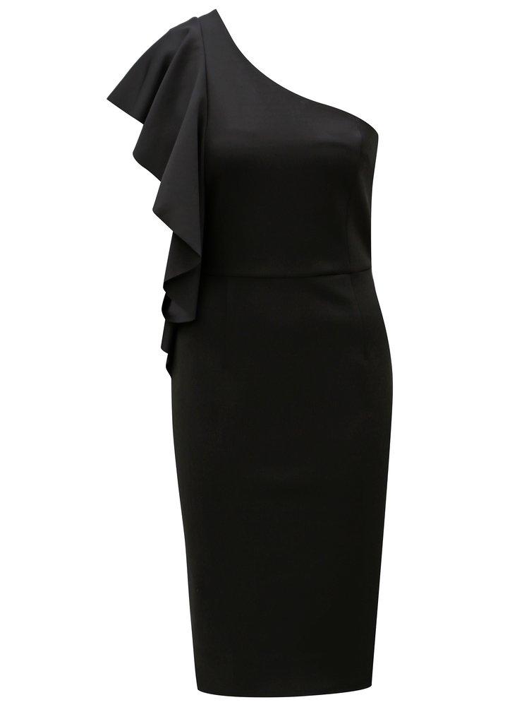 Černé šaty přes jedno rameno Dorothy Perkins