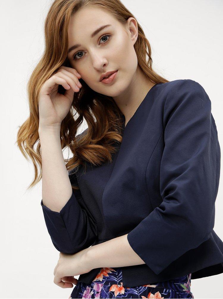 Sacou de dama albastru inchis scurt M&Co
