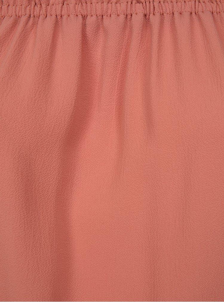 Korálová halenka s odhalenými rameny Dorothy Perkins Curve