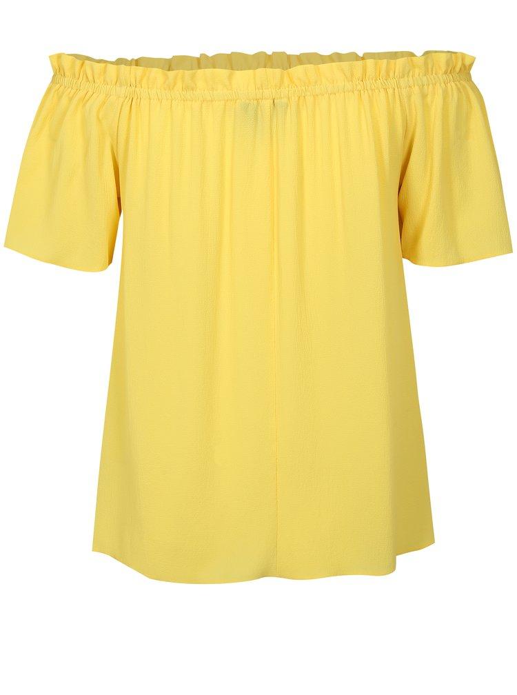 Žlutá halenka s odhalenými rameny Dorothy Perkins Curve