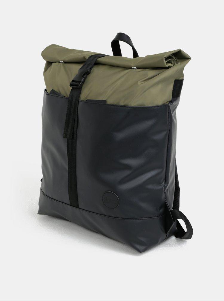 Zeleno-černý voděodolný batoh Enter Research Roll Top 17 l