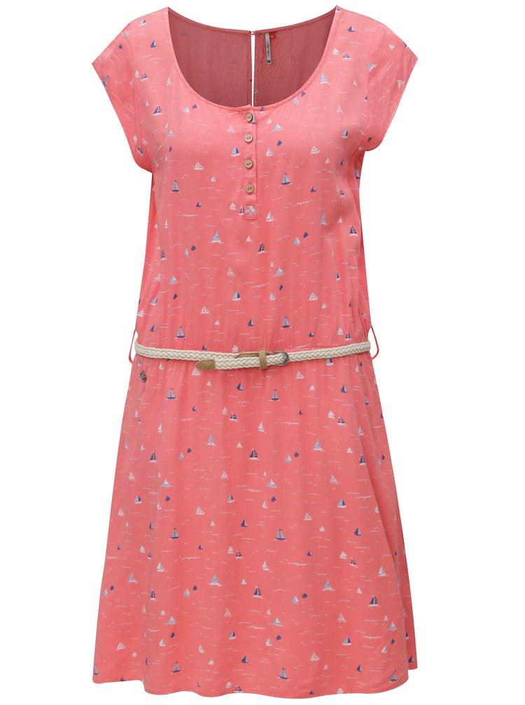 Růžové dámské vzorované šaty Ragwear Zephie