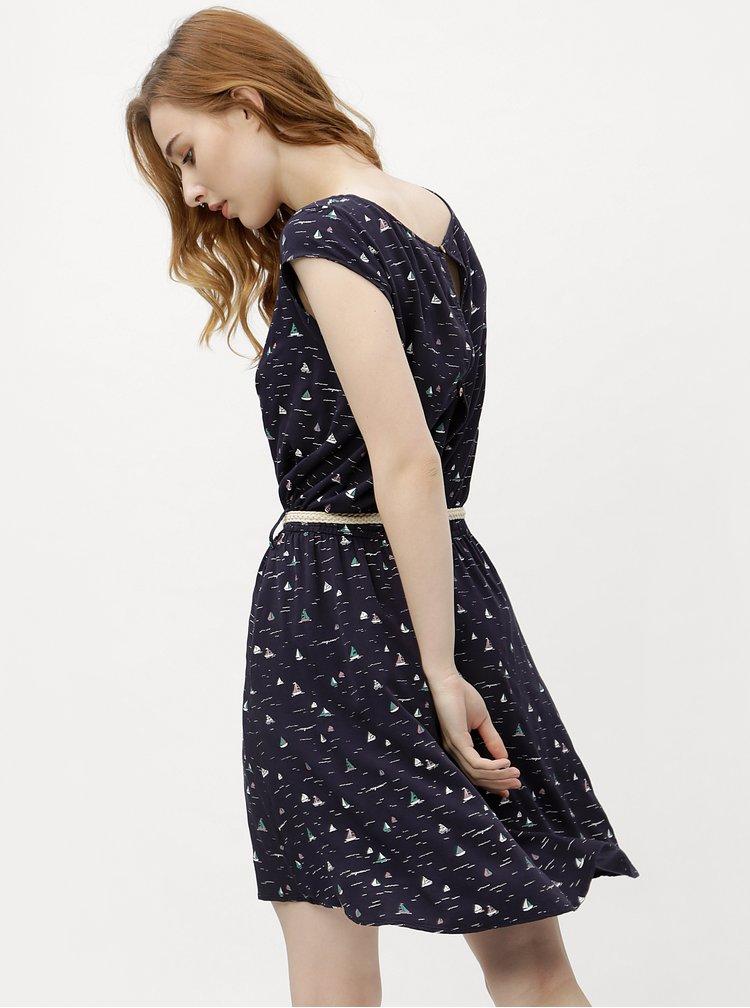 Rochie de dama albastru inchis cu model Ragwear Zephie
