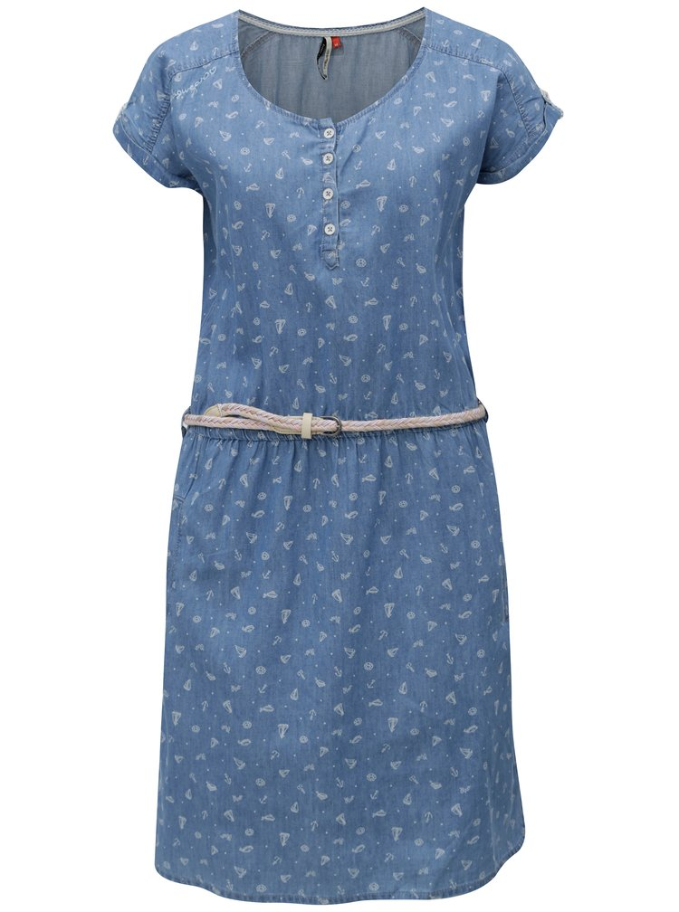 Modré dámské vzorované šaty Ragwear Geena