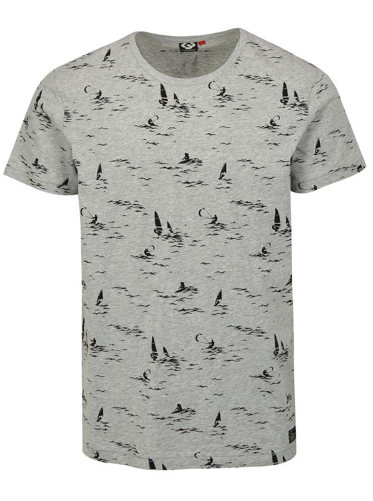 Světle šedé pánské tričko s potiskem Ragwear Dami