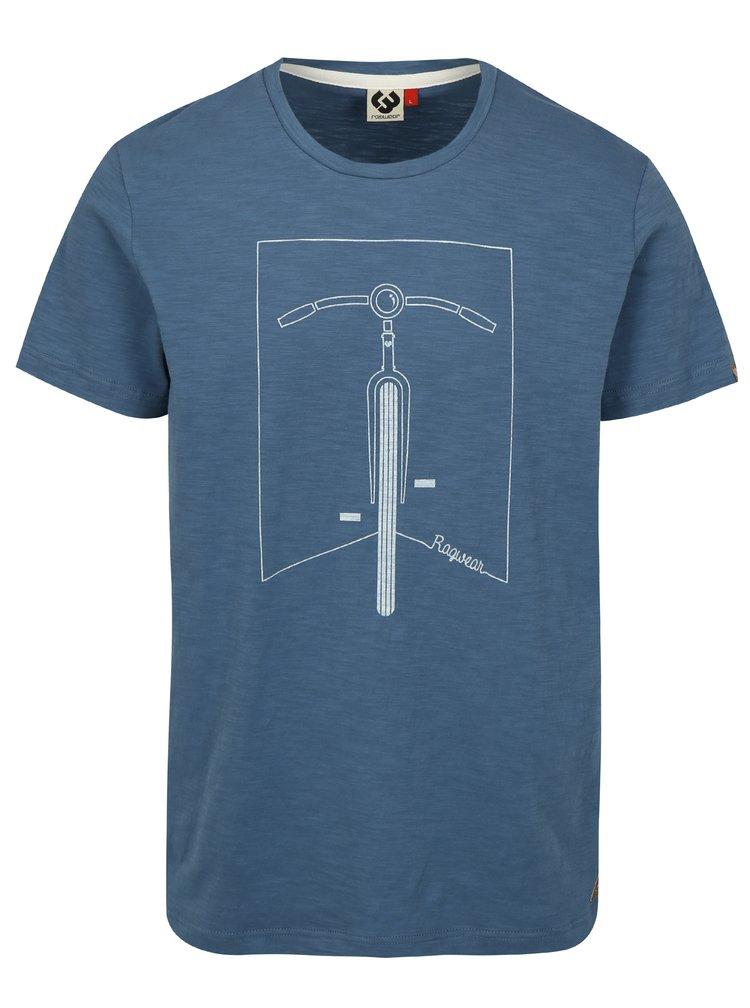 Modré pánské tričko s potiskem Ragwear Blaize