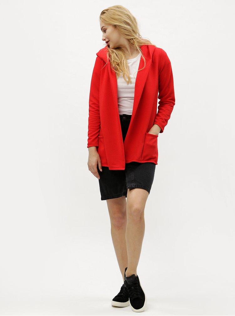 Červený žebrovaný kardigan Haily´s Cindy