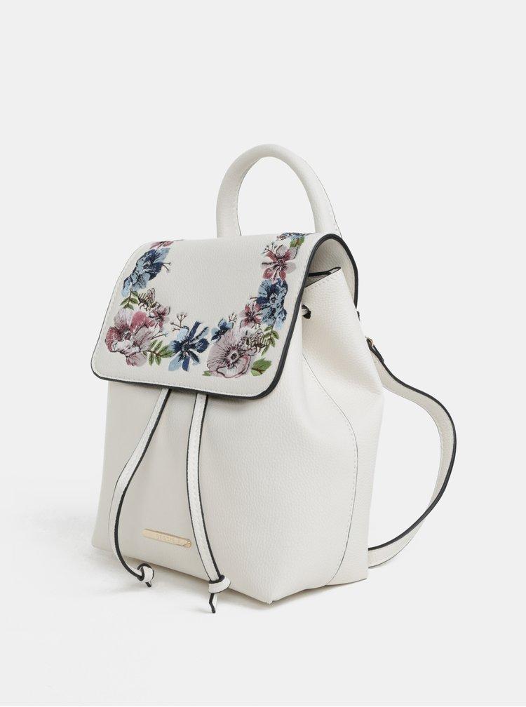 Krémový batoh s květinovou výšivkou Bessie London