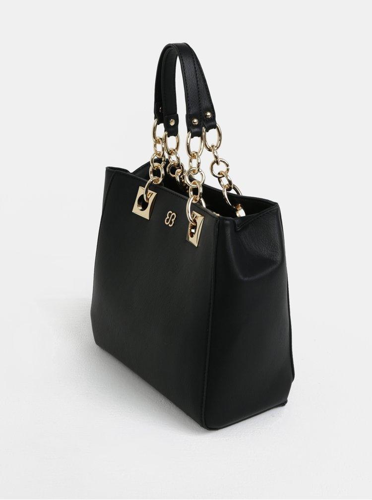 Geanta shopper negru cu detalii aurii - Bessie London