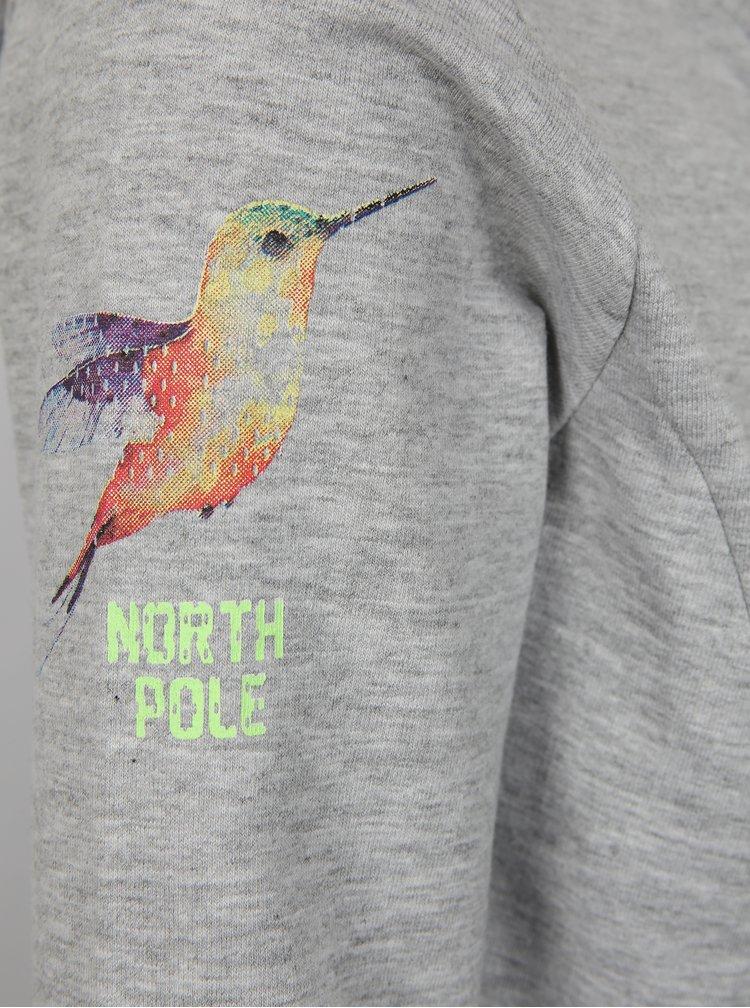 Šedá žíhaná holčičí mikina North Pole Kids