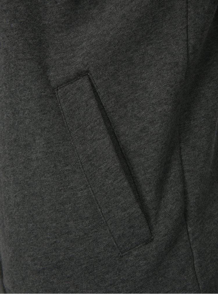Černo-šedá pánská žíhaná mikina s kapucí Ragwear Wings Sweat