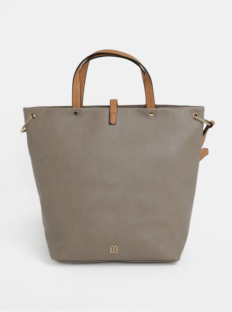 Geanta shopper gri cu detalii aurii - Bessie London