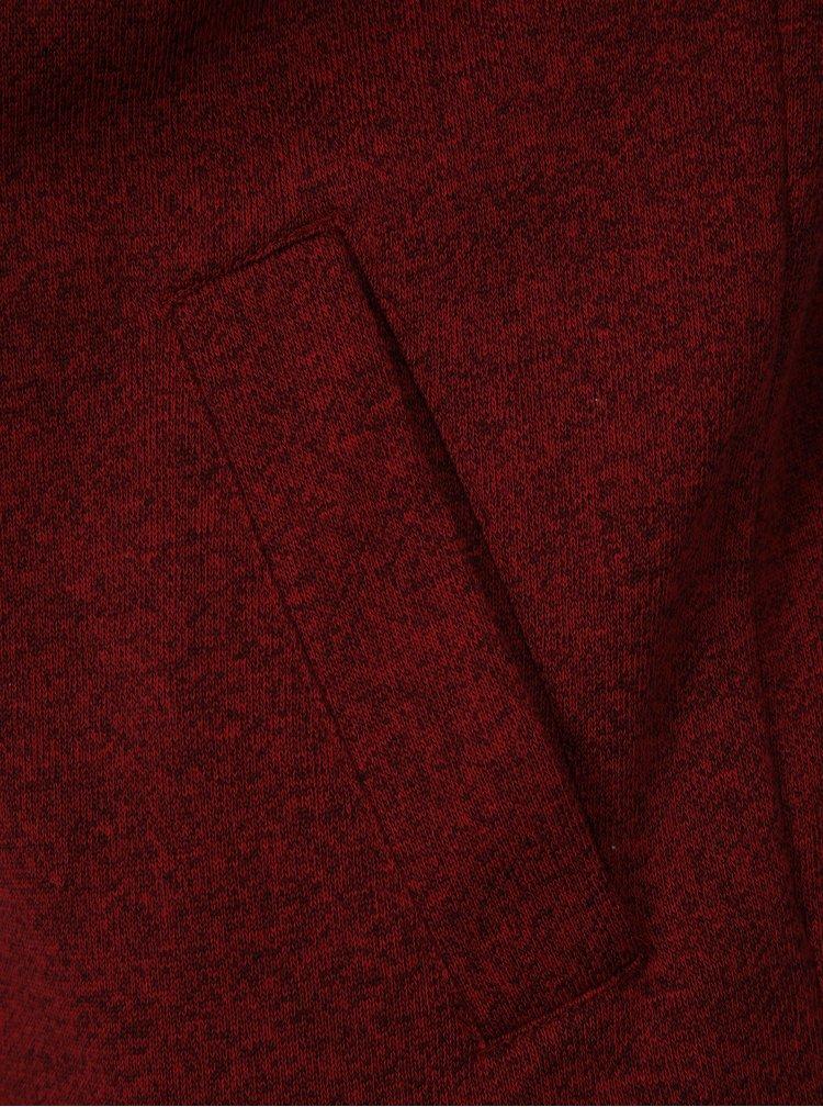 Vínová pánská žíhaná mikina na zip Ragwear Marty Organic