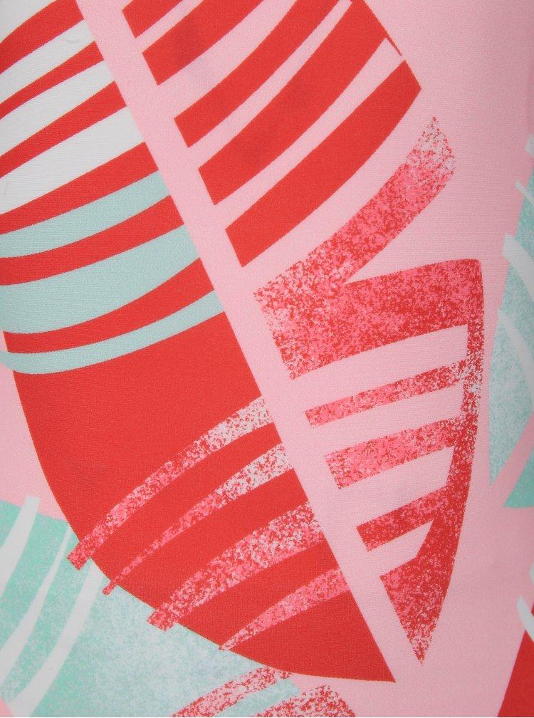 Růžové holčičí vzorované jednodílné plavky Reima Sumatra