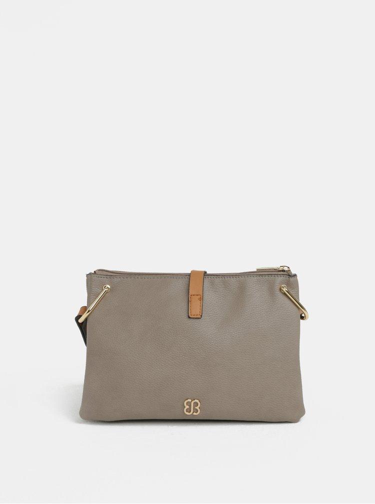 Šedá crossbody kabelka s detaily ve zlaté barvě Bessie London