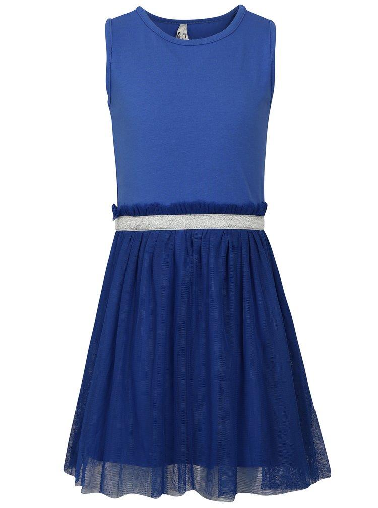 Modré holčičí šaty s tylovou sukní North Pole Kids