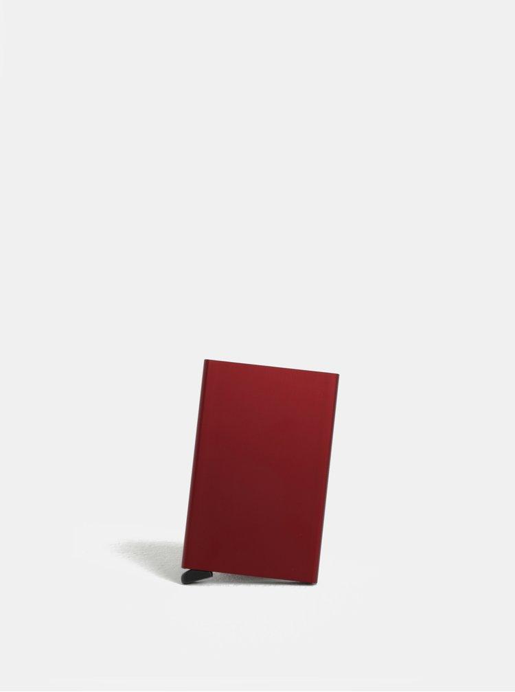 Vínové hliníkové pouzdro na karty s RFID krytím Secrid Cardprotector