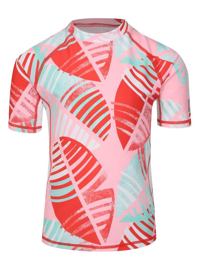 Růžové holčičí plavkové tričko s krátkým rukávem Reima Fiji