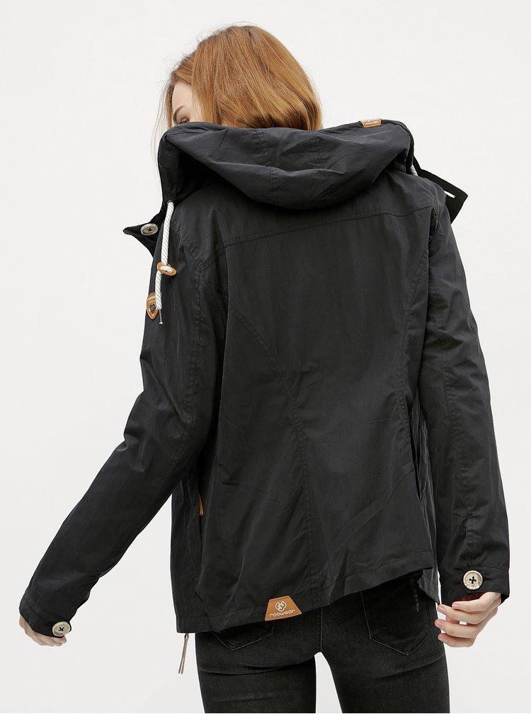 Černá dámská bunda s kapucí Ragwear Lynx