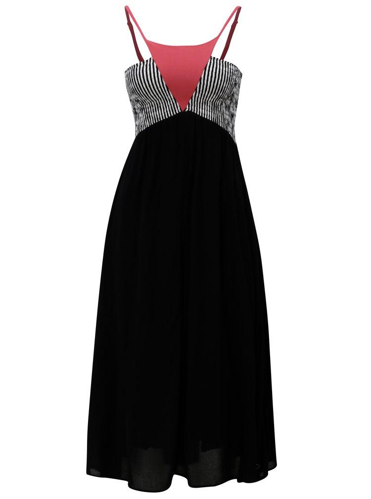 Černé šaty s pruhovaným topem SKFK Udara
