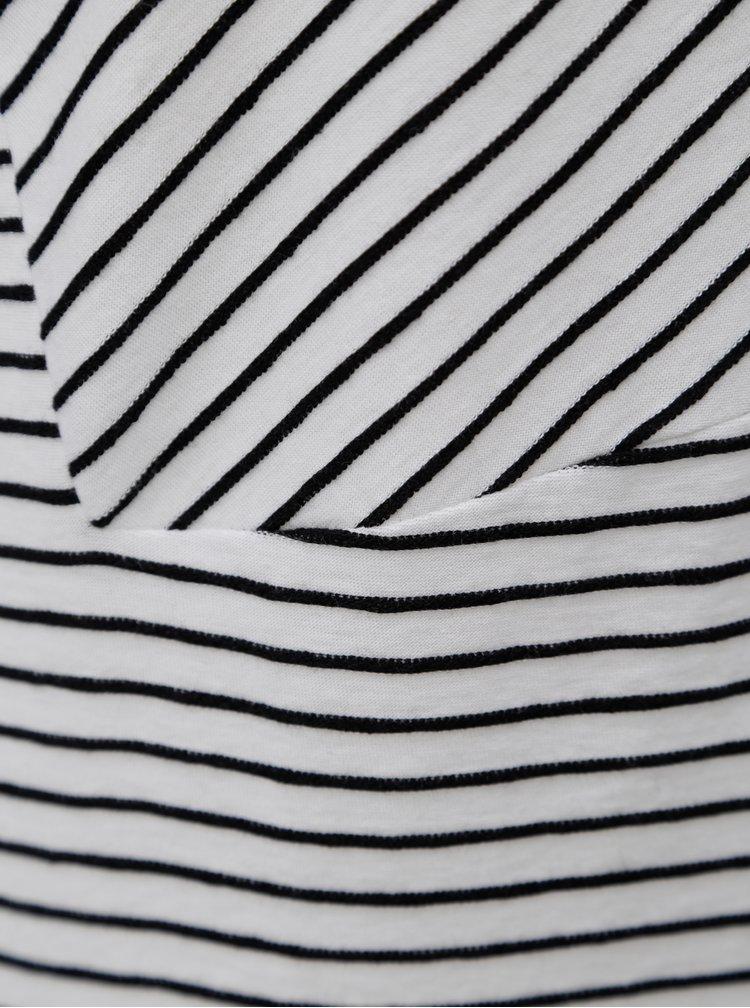 Rochie negru-alb in dungi SKFK