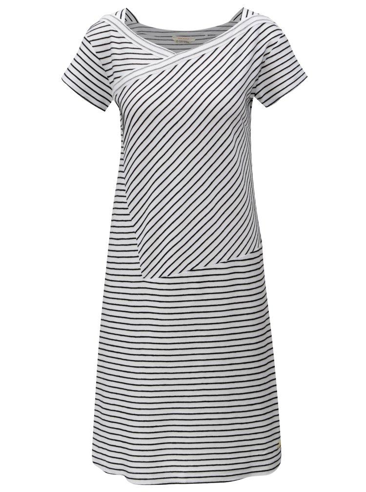 Černo-bílé pruhované šaty Skunkfunk