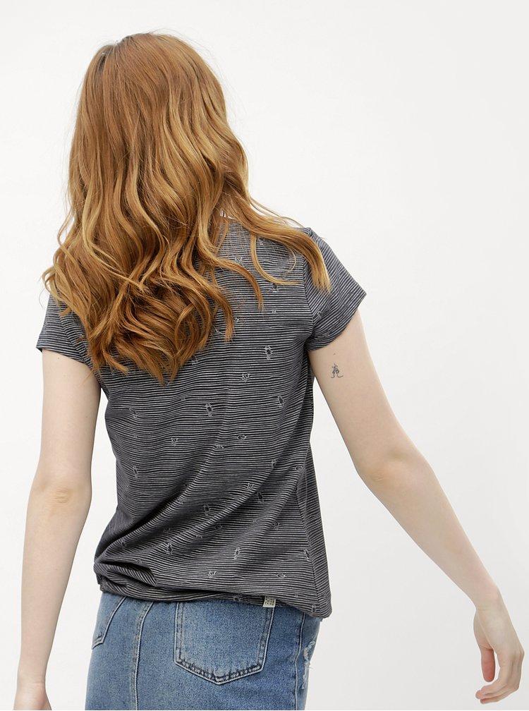Tmavě šedé dámské pruhované tričko Ragwear Taby