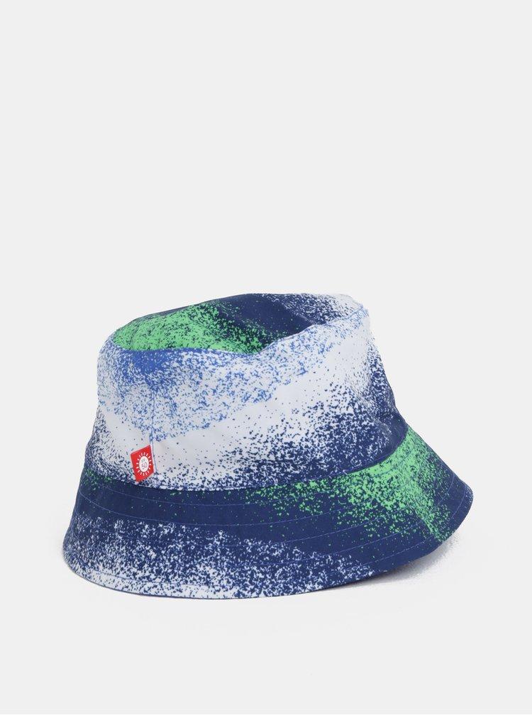 Bílo-modrý klučičí oboustranný klobouk Reima Viehe
