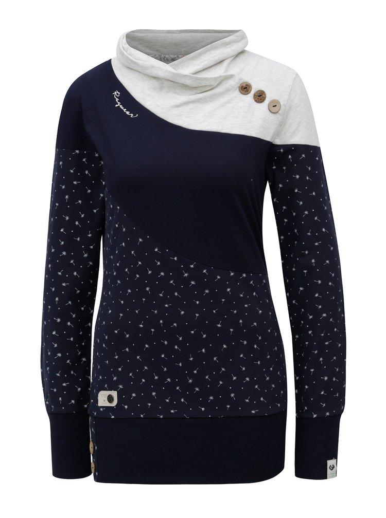 Tmavě modré dámské tričko s dlouhým rukávem Ragwear Nest Block Organic