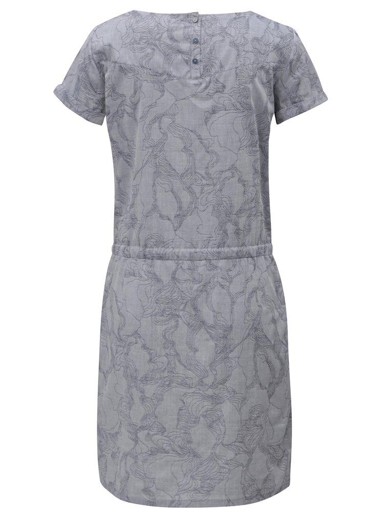 Rochie albastru-gri cu model SKFK