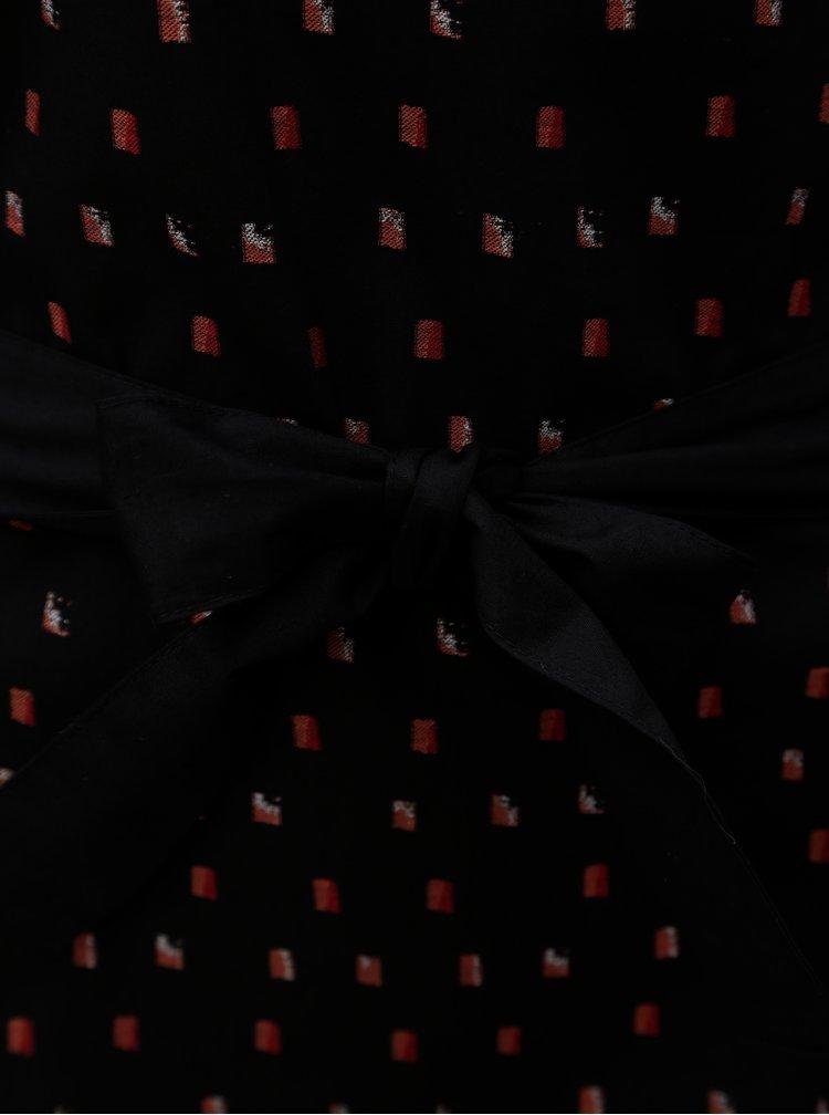 Černé vzorované šaty Skunkfunk Adana