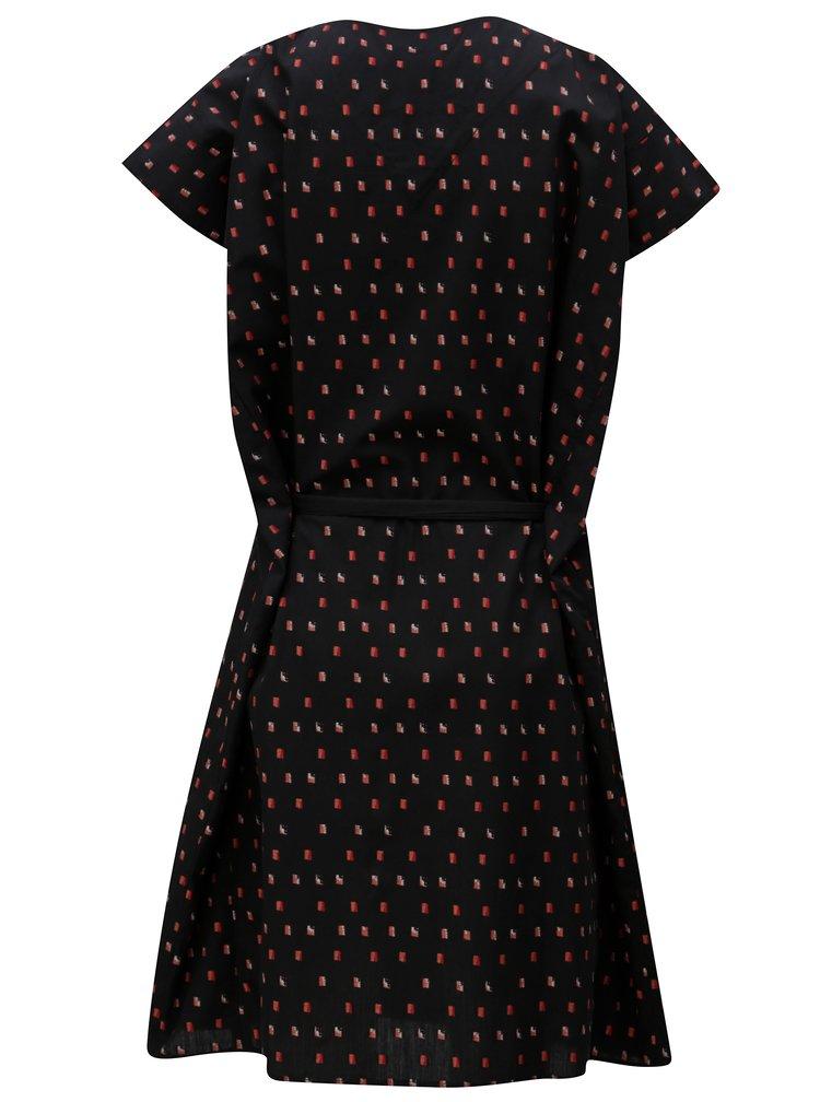Čierne vzorované šaty SKFK Adana