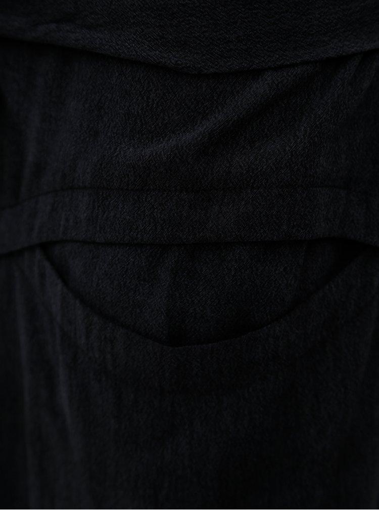 Tmavě šedé žíhané šaty Skunkfunk