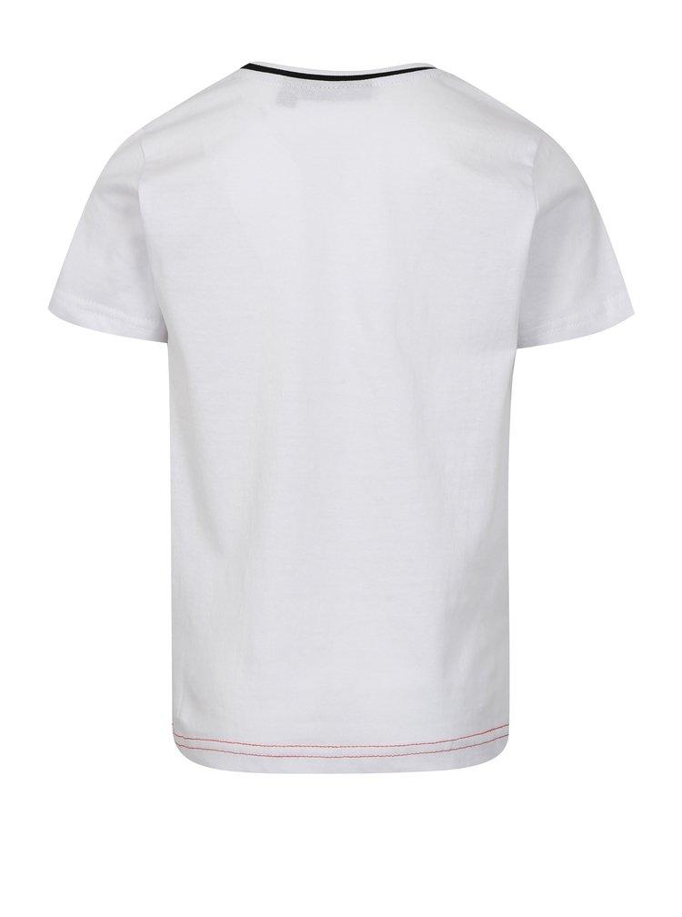 Červeno-bílé klučičí tričko s potiskem Mix´n Match