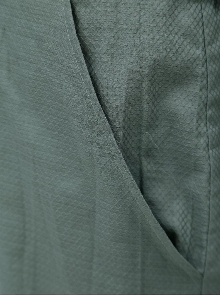 Zelené vzorované košilové šaty Skunkfunk