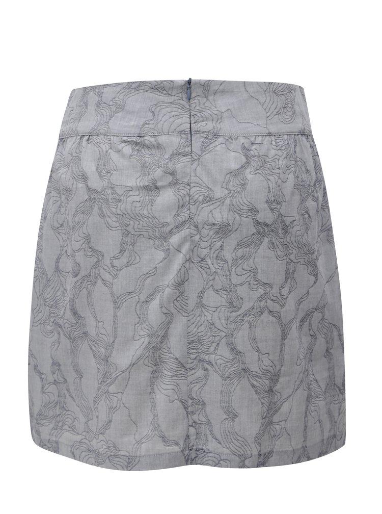 Šedá vzorovaná sukně SKFK