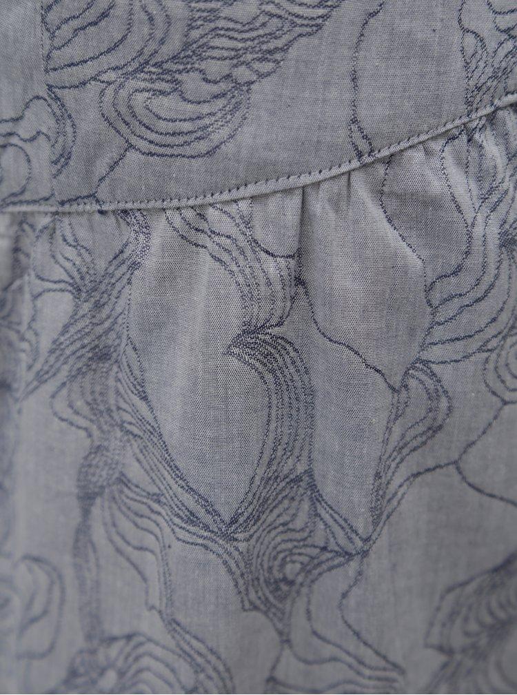 Šedá vzorovaná sukně Skunkfunk