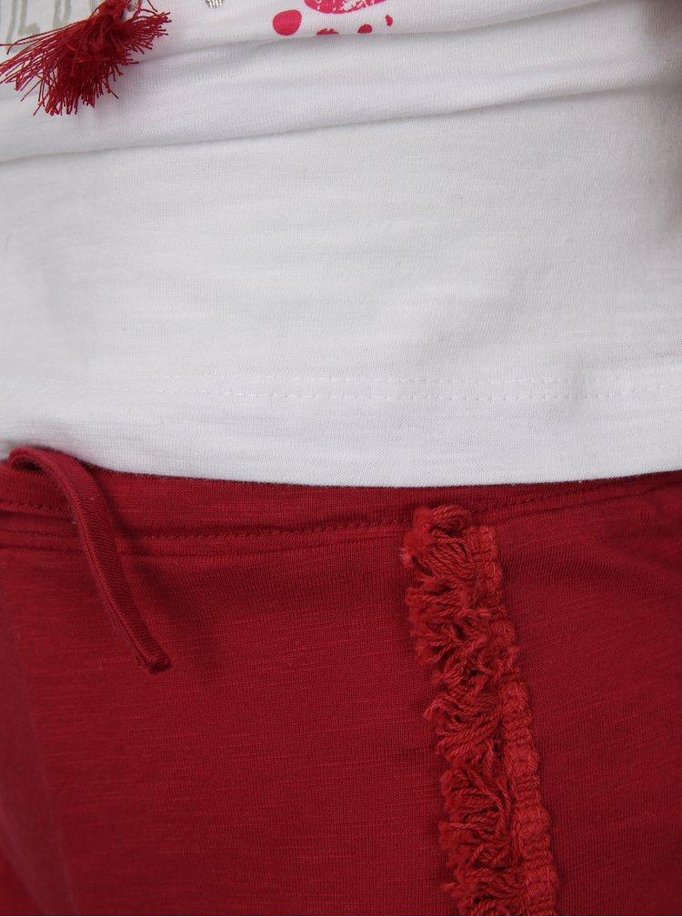 Červeno-bílý holčičí set s kraťasy a tričkem s potiskem Mix´n Match