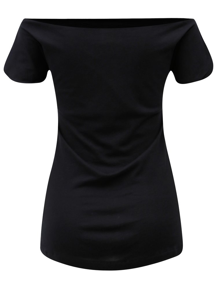 Černé tričko s odhalenými rameny Skunkfunk Hamasei