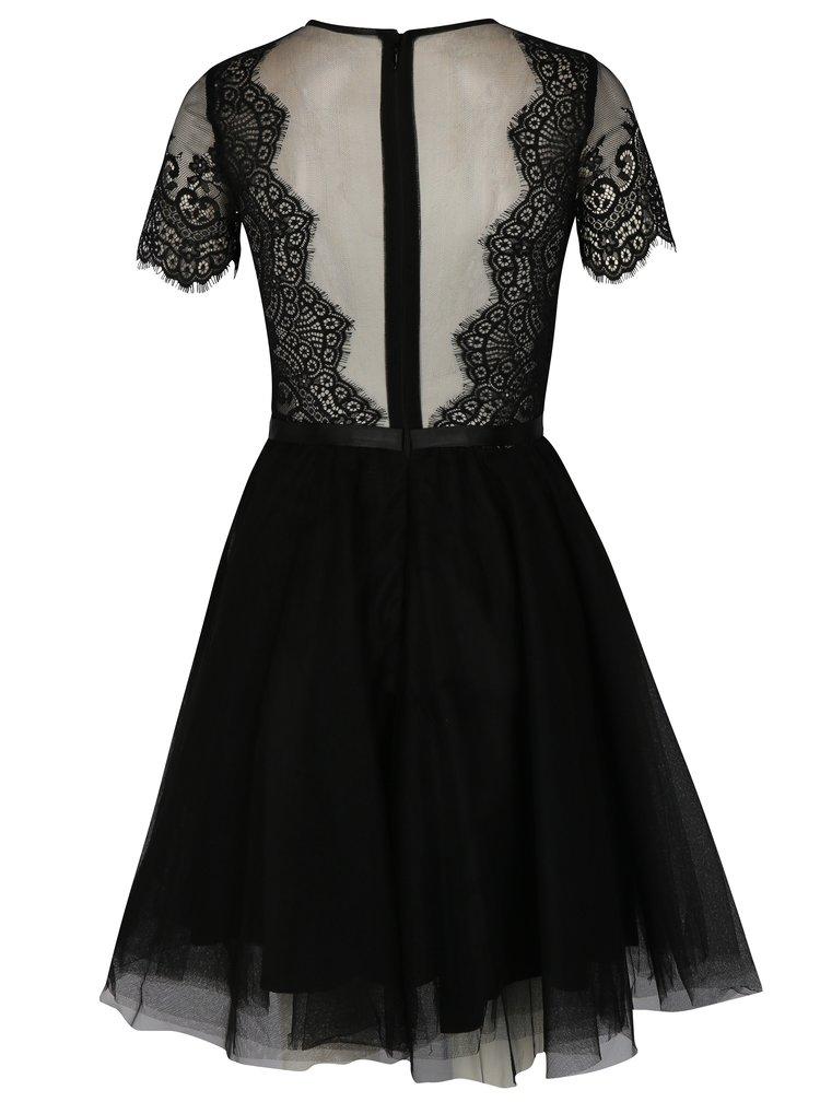 Černé krajkové šaty Chi Chi London Siman
