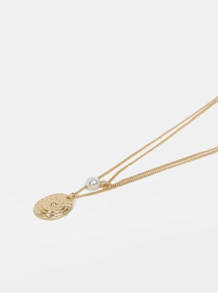 Náhrdelník s přívěskem ve zlaté barvě Pieces Magnid