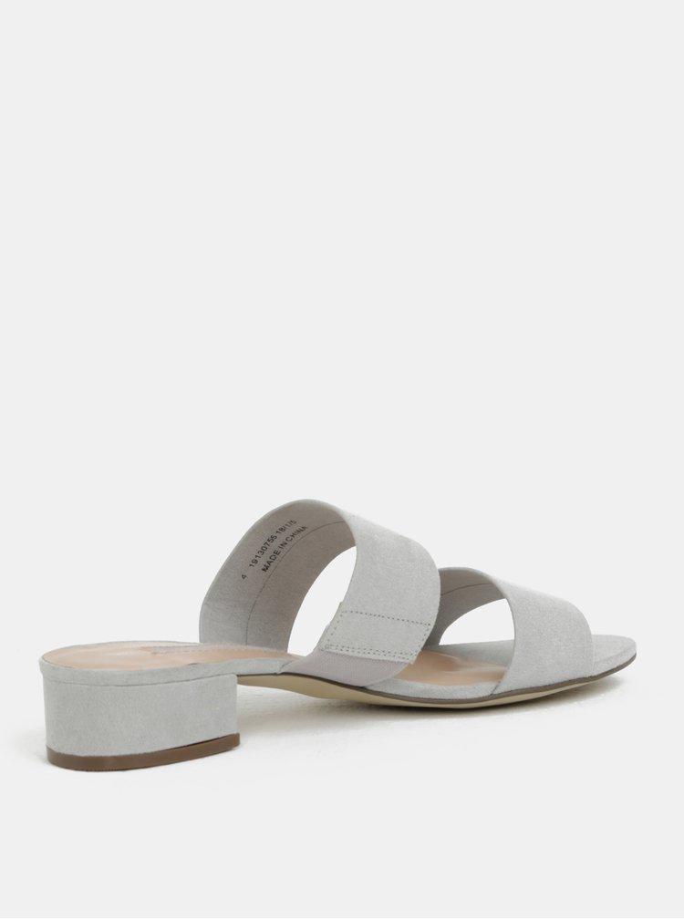Šedé pantofle na podpatku Dorothy Perkins