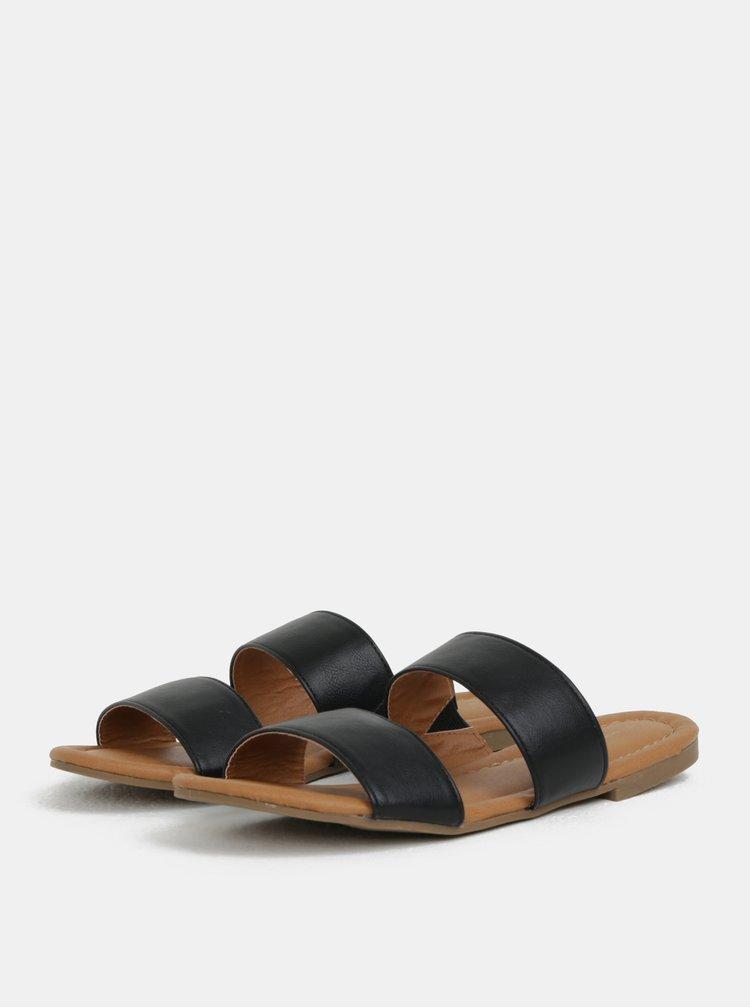 Černé pantofle Dorothy Perkins