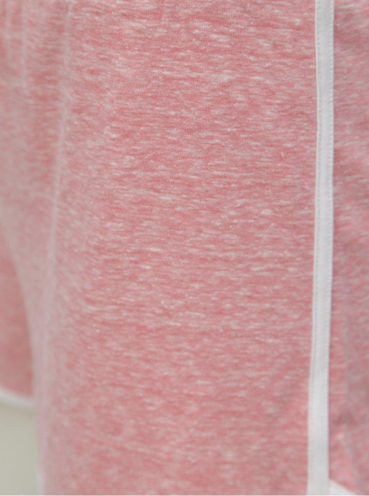 Růžové žíhané kraťasy Dorothy Perkins