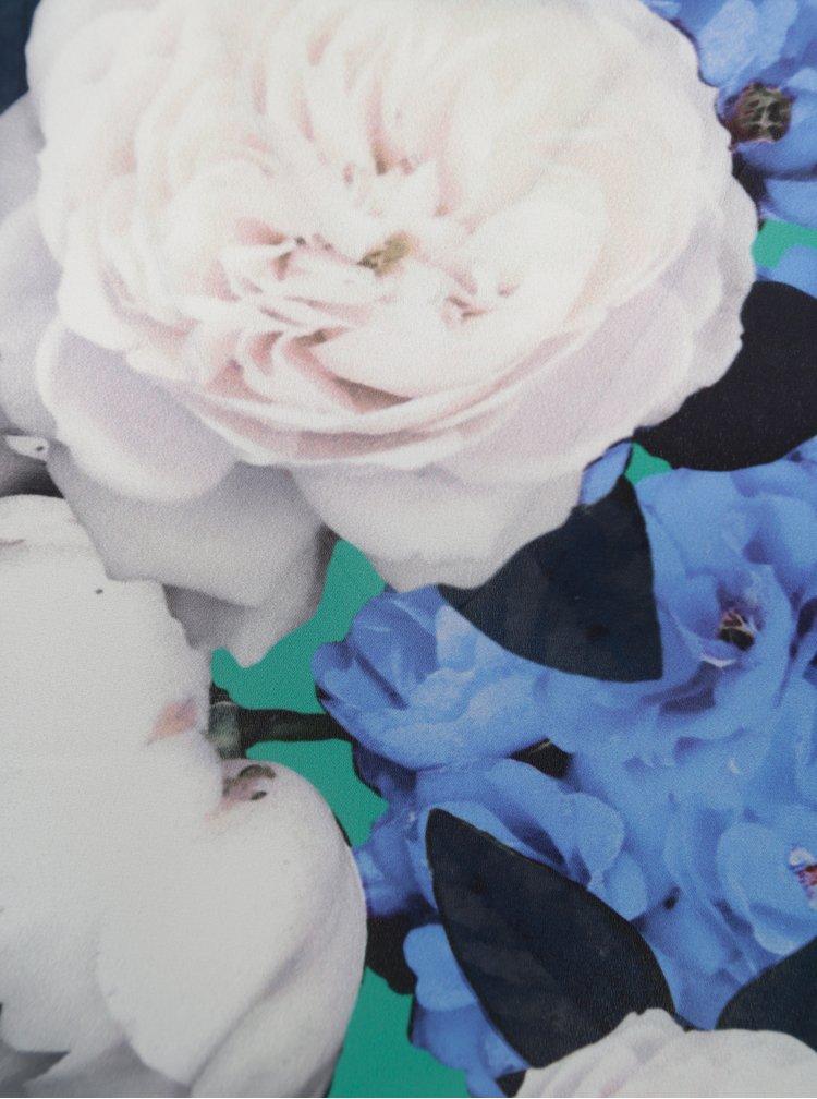 Zelená květovaná halenka Dorothy Perkins Petite