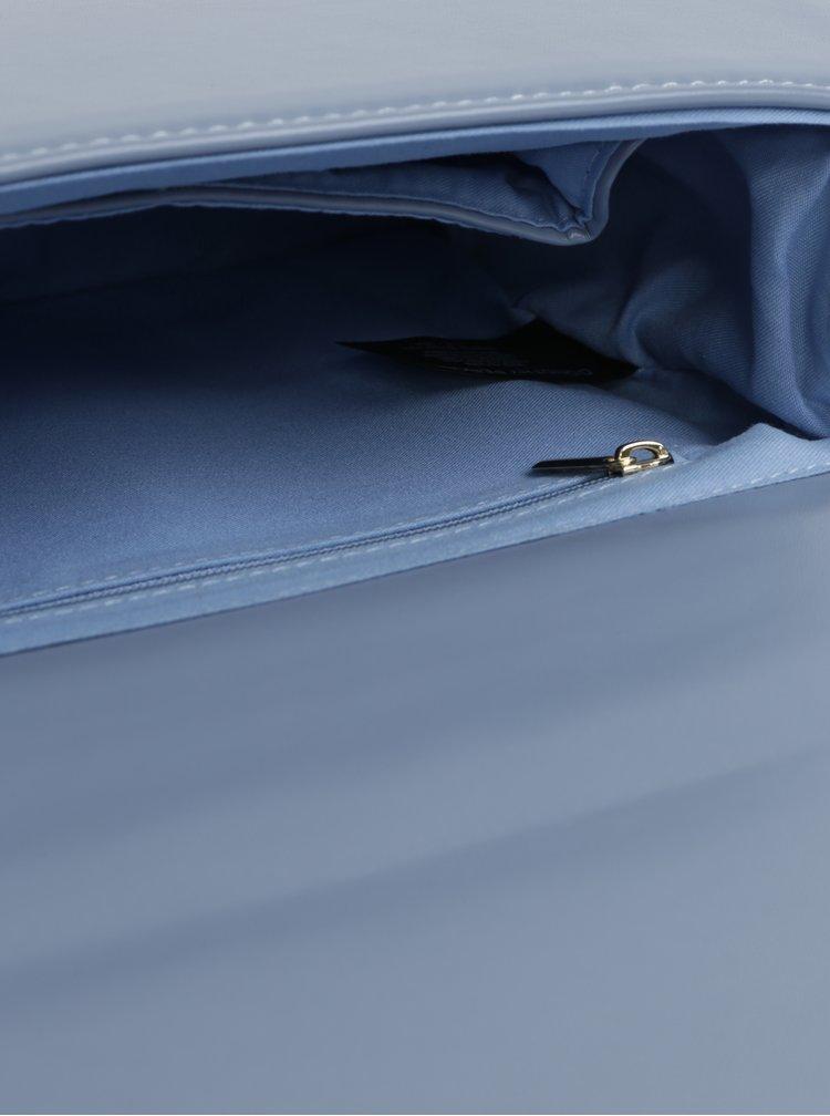 Modrá crossbody kabelka s popruhem ve zlaté barvě Dorothy Perkins