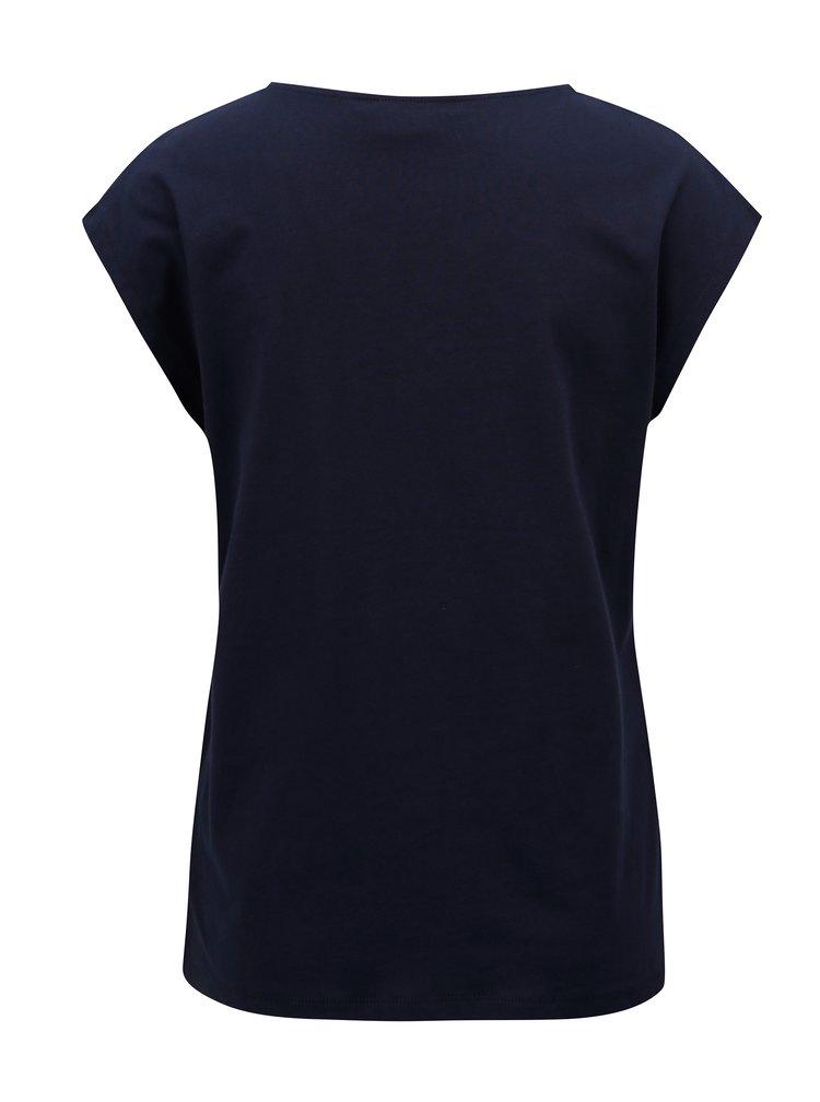 Tmavě modré tričko s krajkou Dorothy Perkins