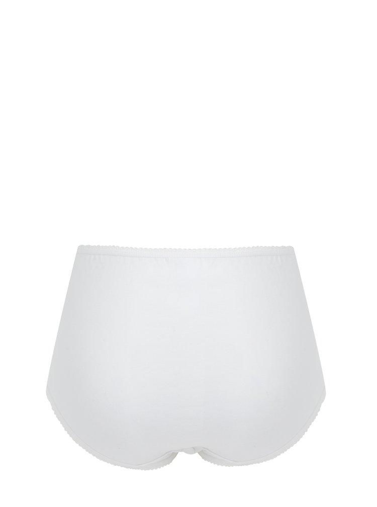 Sada pěti vzorovaných kalhotek v bílo-fialové barvě M&Co