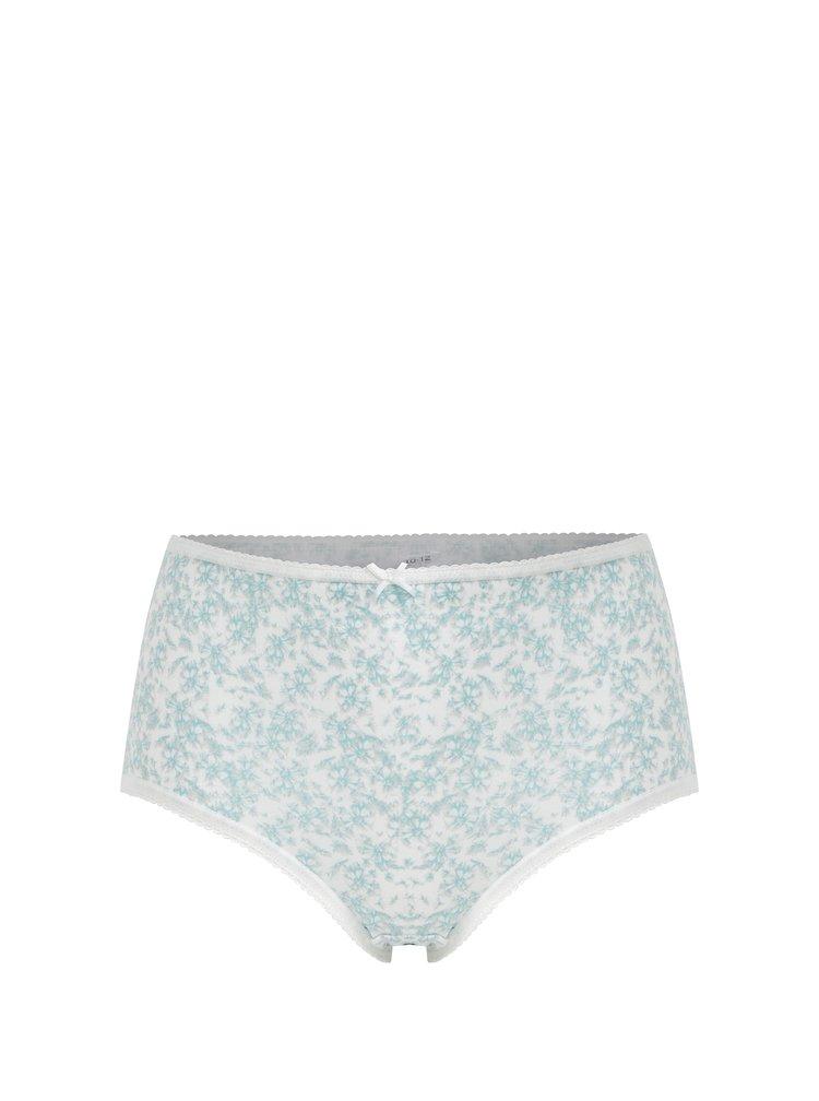 Sada pěti vzorovaných kalhotek ve krémovo-mentolové barvě M&Co