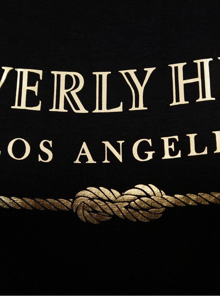 Černé tričko s potiskem Dorothy Perkins